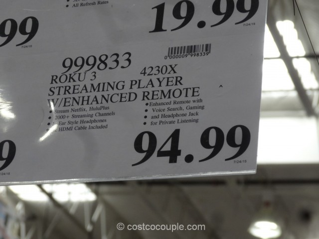 Roku 3 Streaming Player Model# 4230X Costco 1