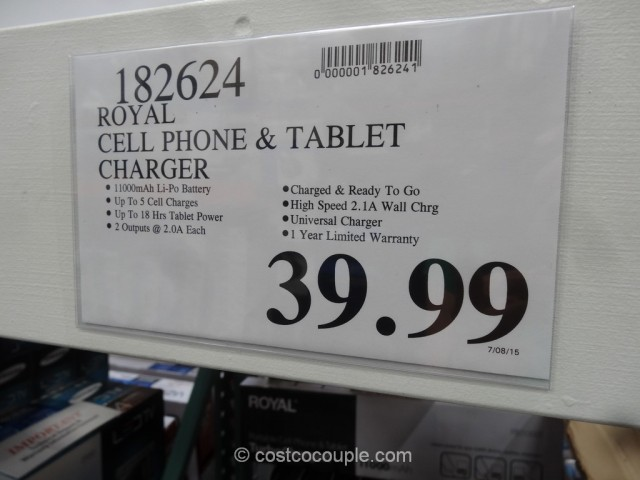 Royal Cell Phone And Tablet Portable Charger Costco 1