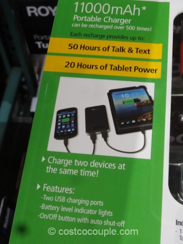 Car Battery Costco >> Royal Cell Phone And Tablet Portable Charger