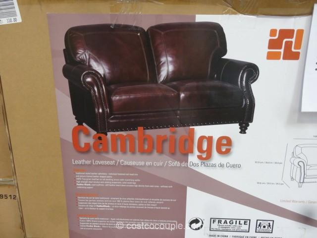 Simon Li Cambridge Leather Loveseat
