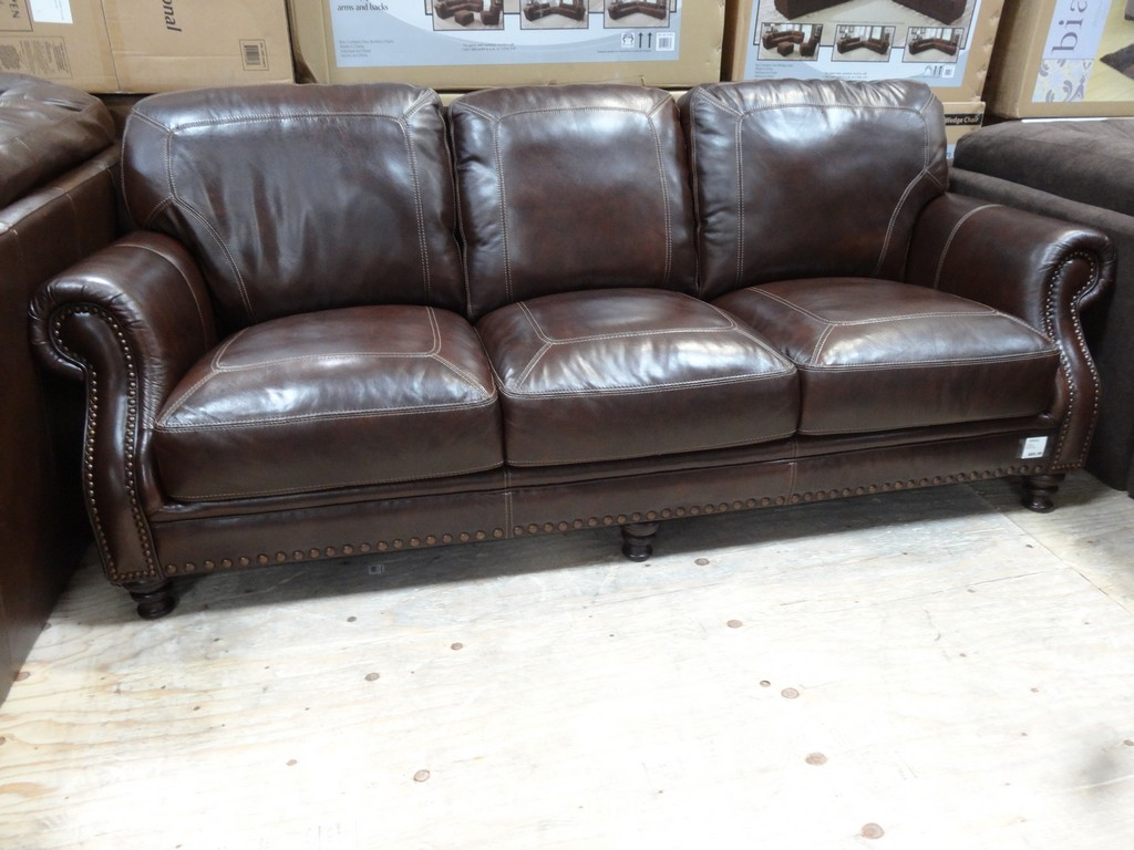Simon Li Cambridge Leather Sofa Costco 1