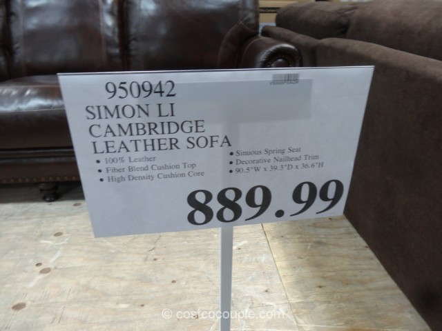 Simon Li Cambridge Leather Sofa Costco 2