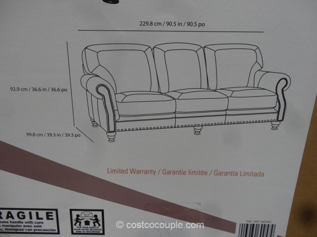 Simon Li Cambridge Leather Sofa Costco 4