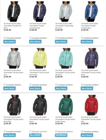 The North Face Ladies Thermoball Jacket Costco