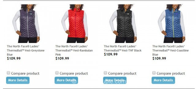 The North Face Ladies Thermoball Vest Costco