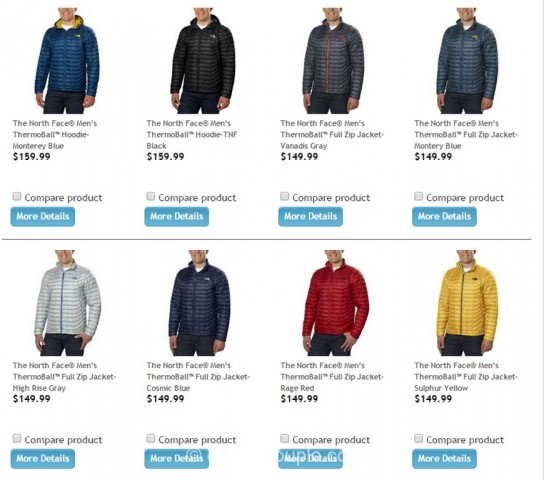 The North Face Mens Thermoball Jacket Costco