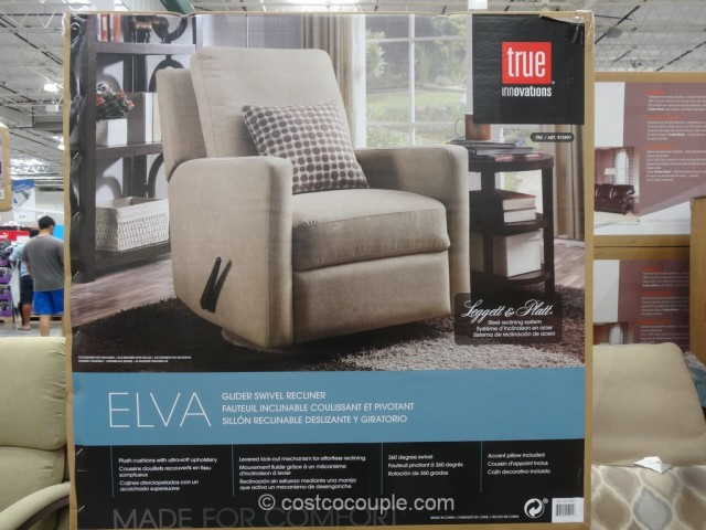 True Innovations Elva Glider Swivel Recliner Costco 4