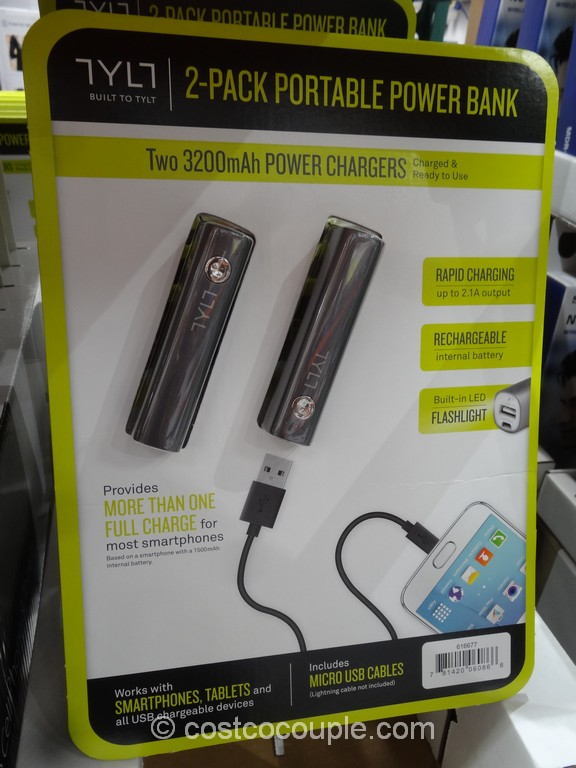 Tylt Portable Battery Charger Costco 2