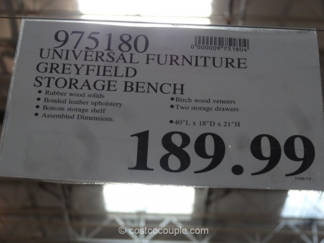 Universal Furniture Greyfield Storage Bench Costco 1