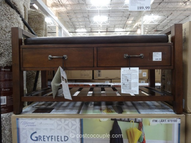 Universal Furniture Greyfield Storage Bench Costco 3