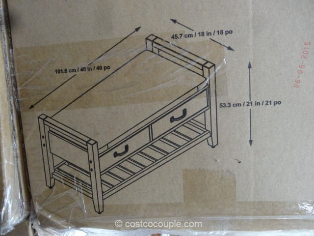 Universal Furniture Greyfield Storage Bench Costco 6
