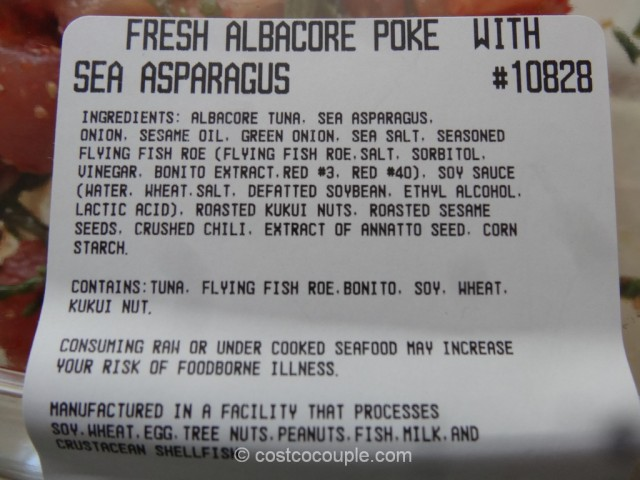 Albacore Poke With Sea Asparagus Costco 1