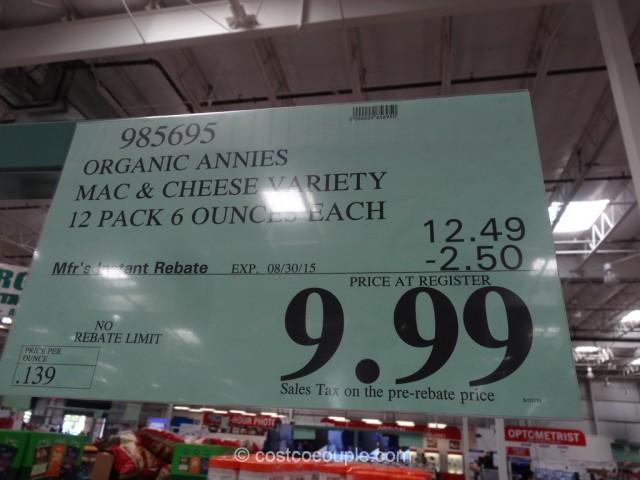 Annie's Organic Mac and Cheese Costco 1
