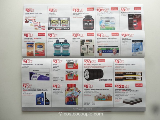 Costco August 2015 Coupon Book 08 06 15 To 08 30 15