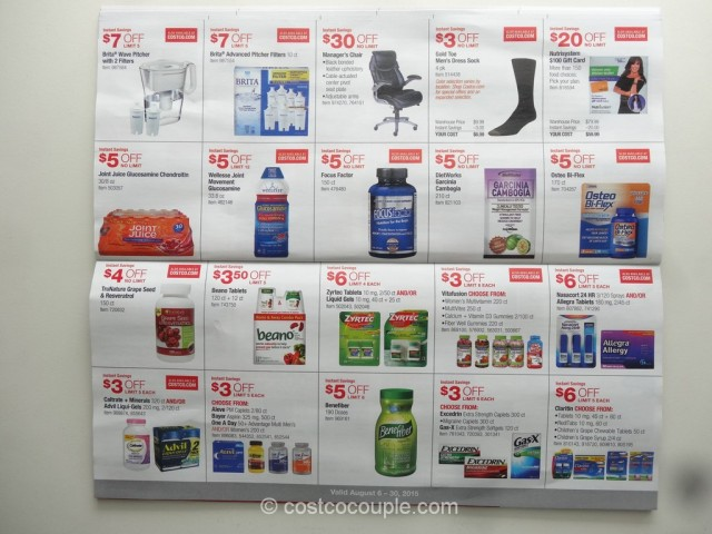 Costco August 2015 Coupon Book 9