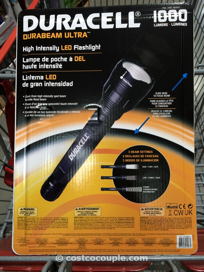 Duracell LED Flashlight 1000 Lumens Costco 2