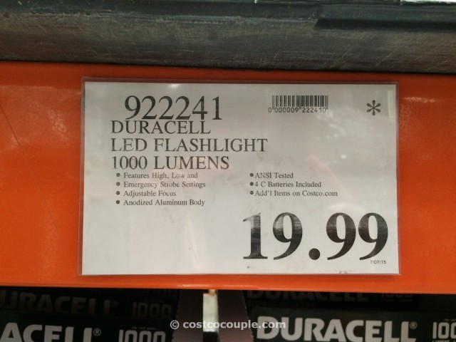 Duracell LED Flashlight 1000 Lumens Costco 3