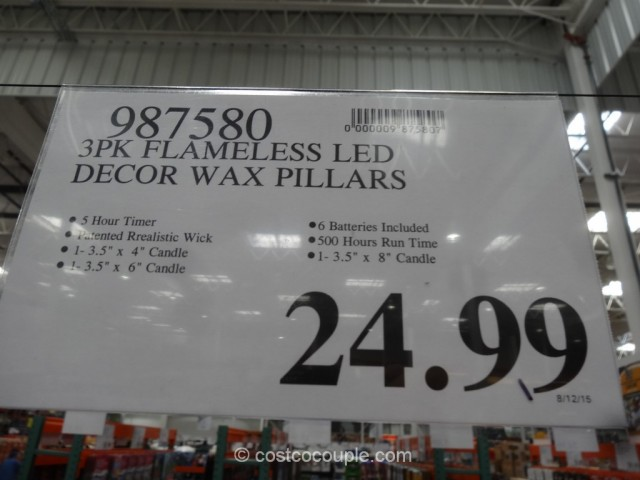 Flameless LED Wax Candles Costco 1