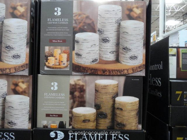 Flameless LED Wax Candles Costco 2