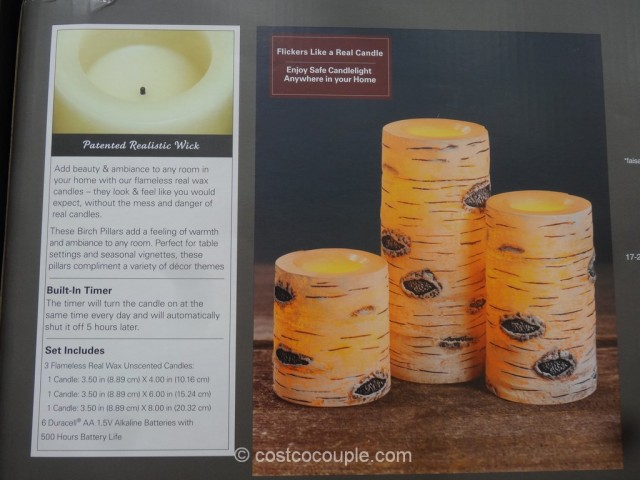 Flameless LED Wax Candles Costco 3