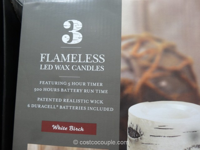 Flameless LED Wax Candles Costco 4