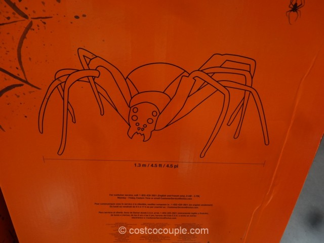 Giant Spider With LED Eyes Costco 5