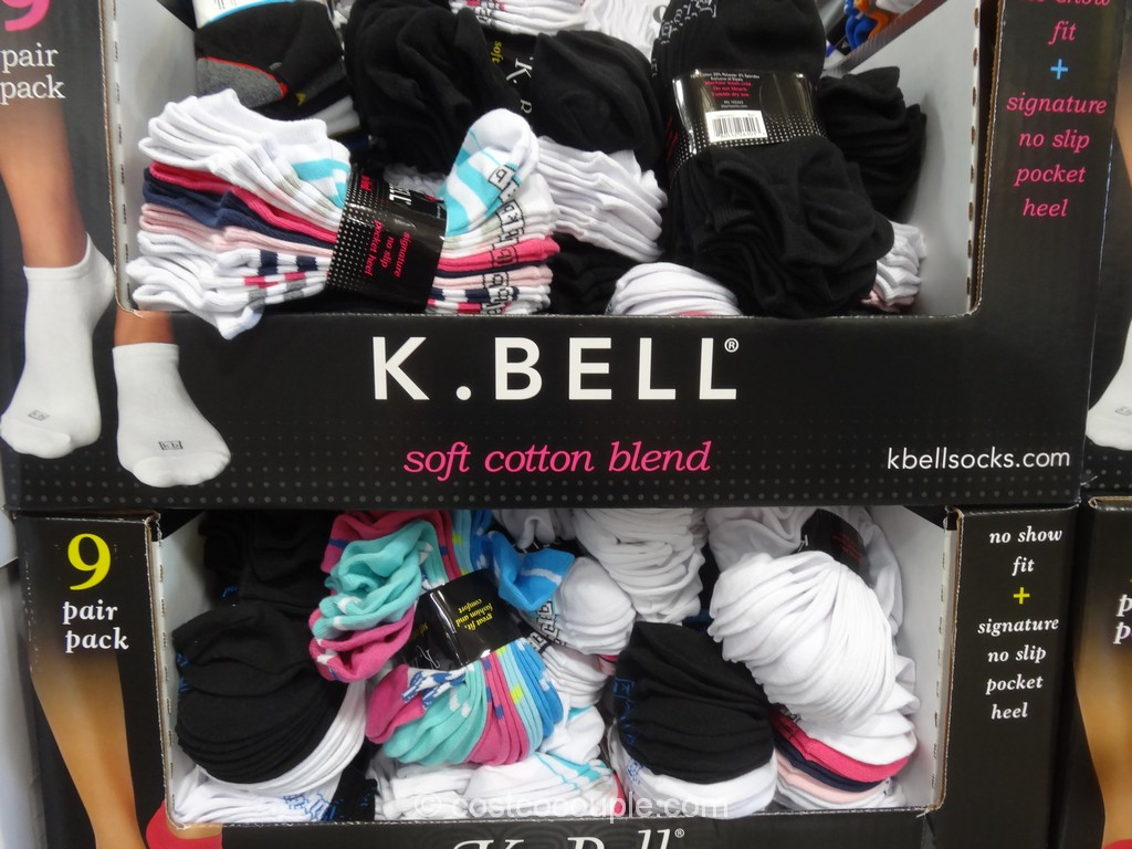 K Bell Ladies No Show Socks Costco 2