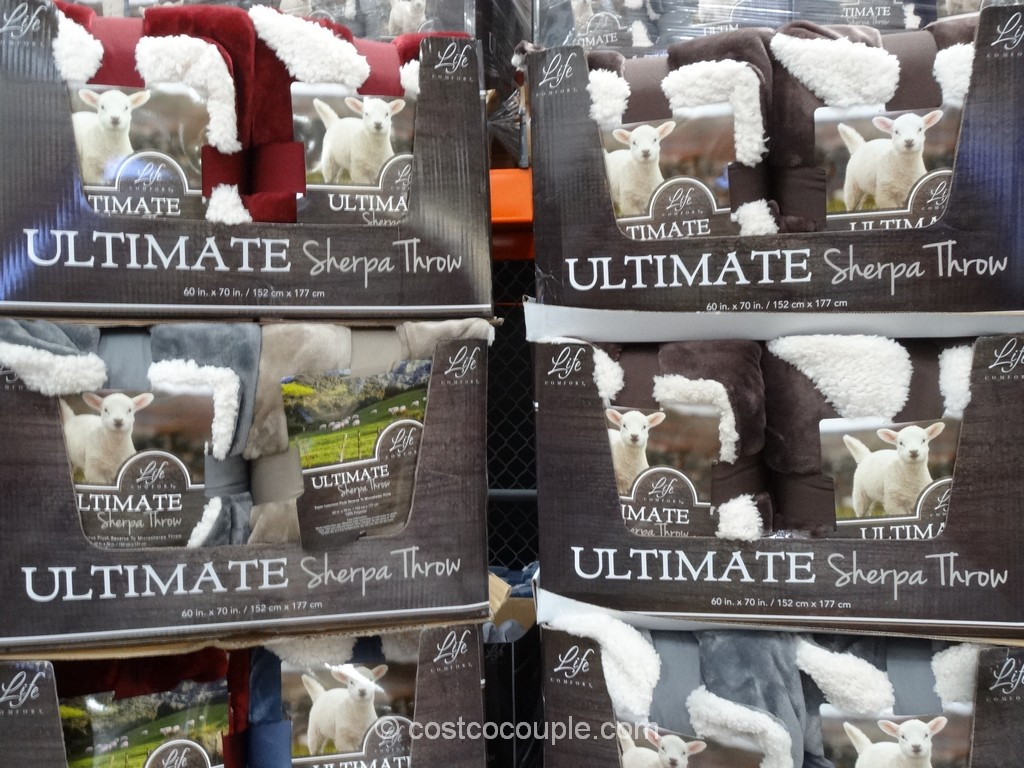 Life Comfort Ultimate Sherpa Throw Costco 4