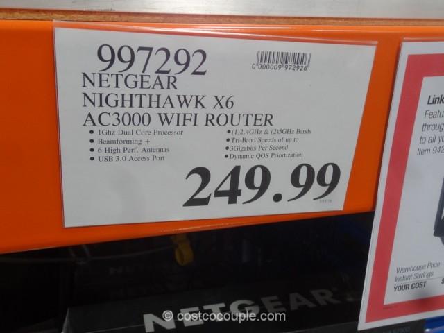 Netgear Nighthawk X6 AC3000 Wifi Router Costco 1