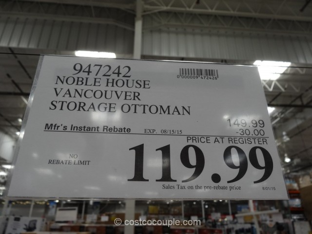 Noble House Vancouver Storage Ottoman Costco 1