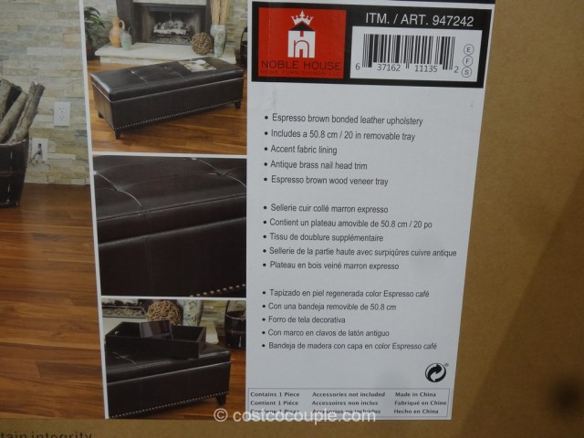 Noble House Vancouver Storage Ottoman Costco 5