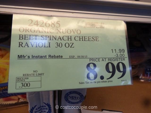 Nuovo Organic Beet Spinach and Goat Cheese Ravioli Costco 1