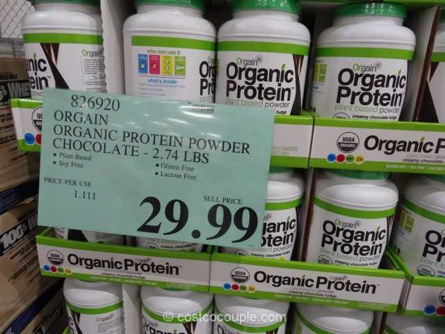 Orgain Organic Protein Powder Chocolate Costco 1