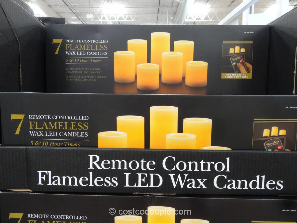 Remote Controlled Flameless LED Wax Candles Costco 2