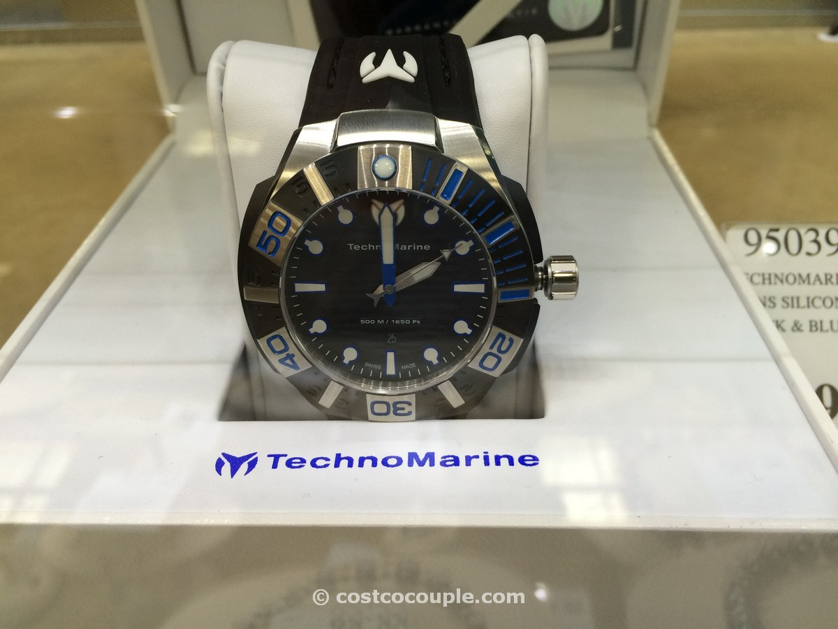 TechnoMarine Blackreef Silicone Strap Mens Watch Costco 1