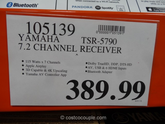 Yamaha TSR-5790 Receiver Costco 1