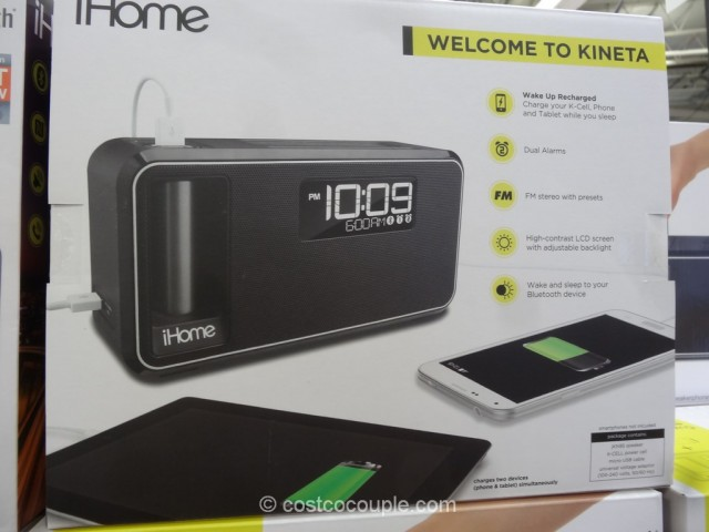 iHome Kineta Bluetooth Alarm Clock Costco 3