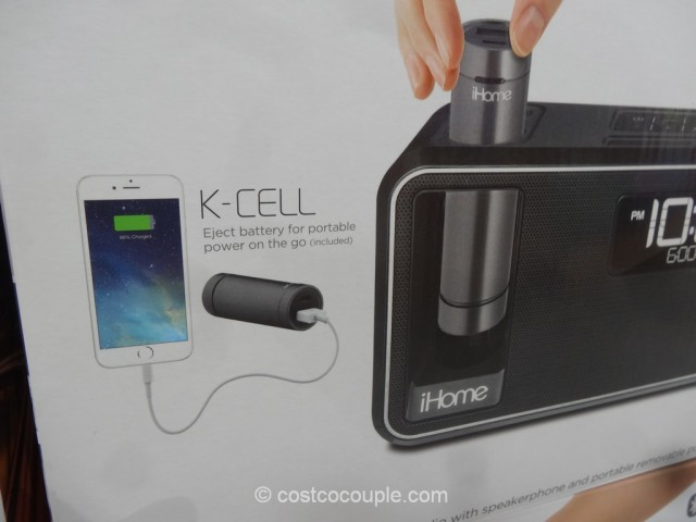iHome Kineta Bluetooth Alarm Clock Costco 5