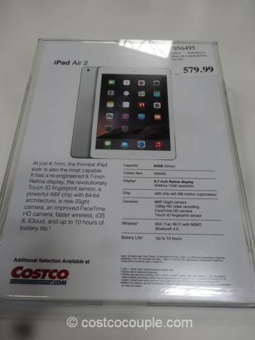 iPad Air 2 64 GB Costco 2