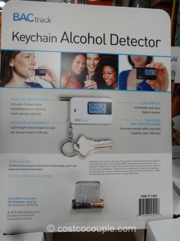 Bactrack Keychain Alcohol Detector Costco 4