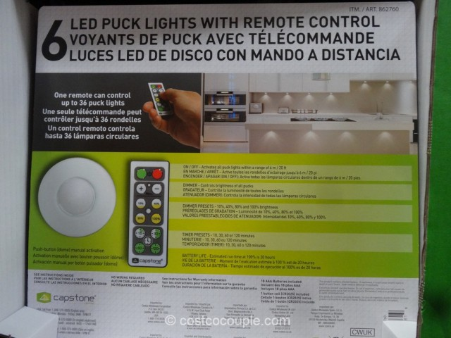 Capstone LED Puck LIghts Costco 3