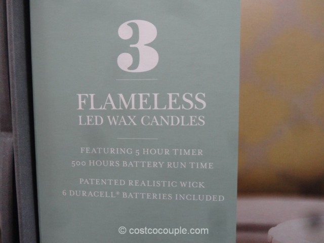 Flameless LED Wax Candle Set Costco 3