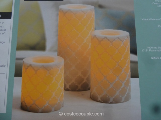Flameless LED Wax Candle Set Costco 6