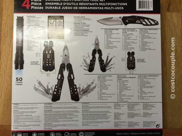 Four Piece Multi Function Tool Set Costco 4