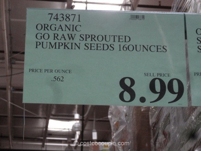 Go Raw Organic Sprouted Pumpkin Seeds Costco 1