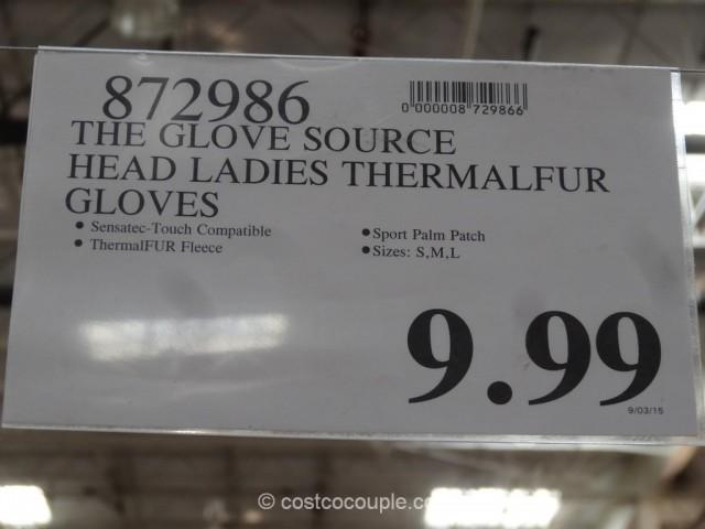 Head Ladies Digital Thermalfur Gloves Costco 1