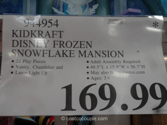 KidKraft Disney Frozen Snowflake Mansion Costco 1