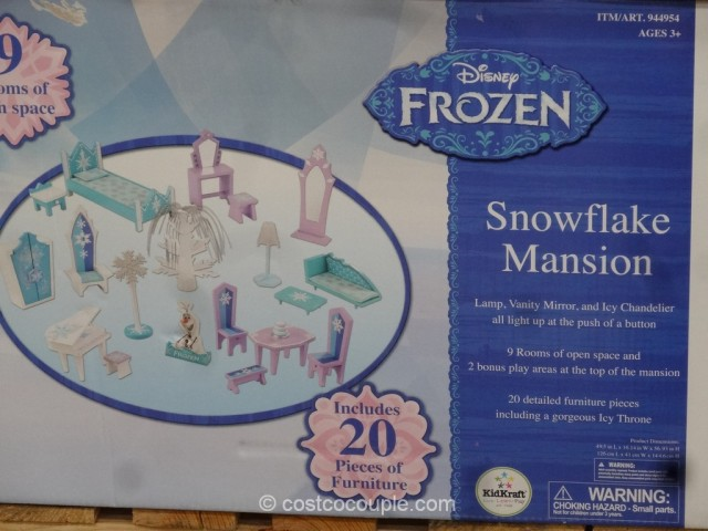 KidKraft Disney Frozen Snowflake Mansion Costco 5