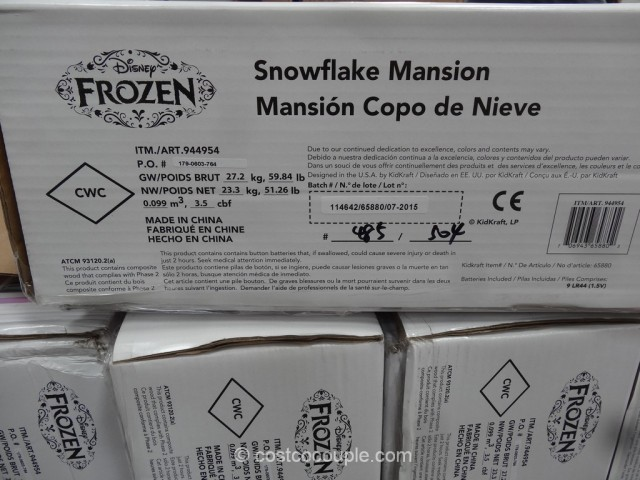 KidKraft Disney Frozen Snowflake Mansion Costco 6