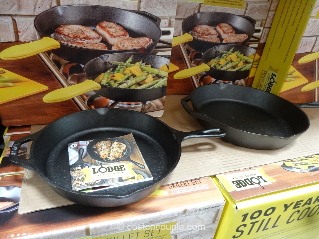 Lodge  Cast Iron Skillet Set Costco 2